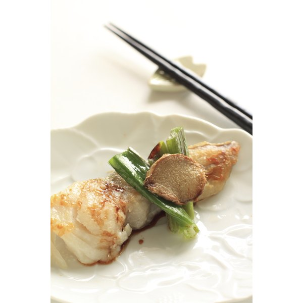 Cod  is moist and flavorful when it is marinated in soy sauce.