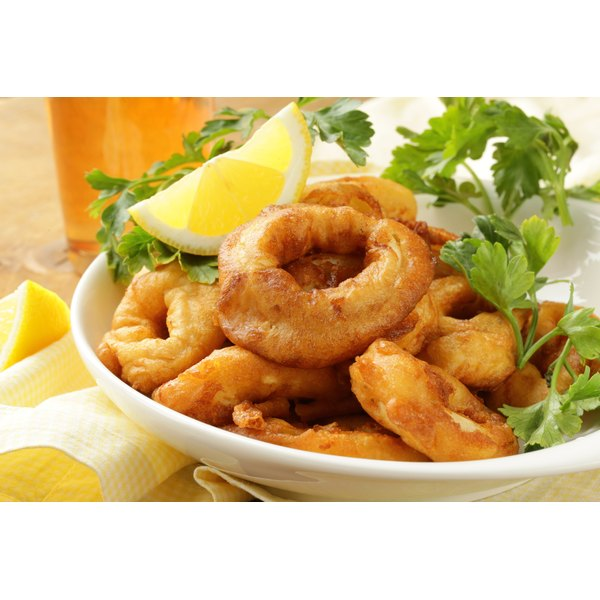 A plate of cooked squid.