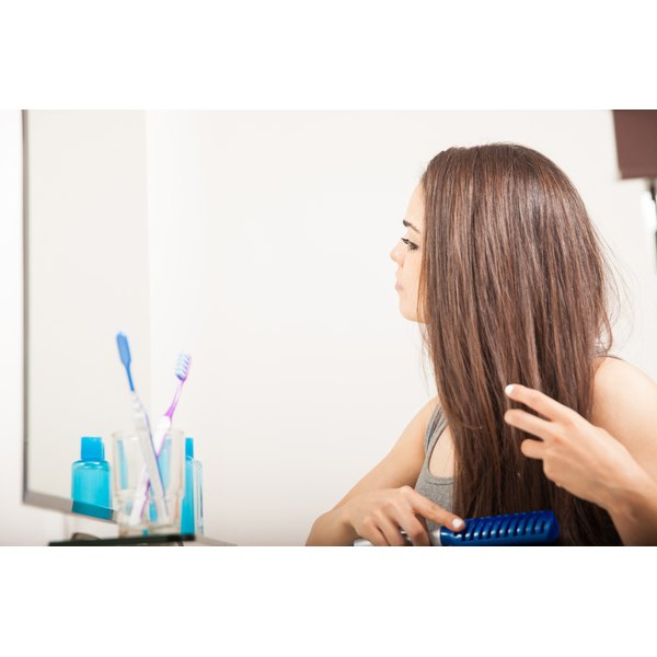 Some shampoos may help straighten your hair.
