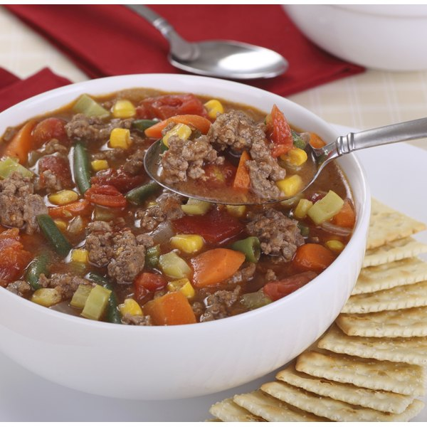 Turn lean beef and vegetables into soup in your crock pot.