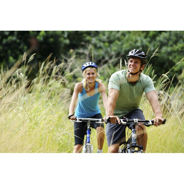 Couple on a leisure bike ride