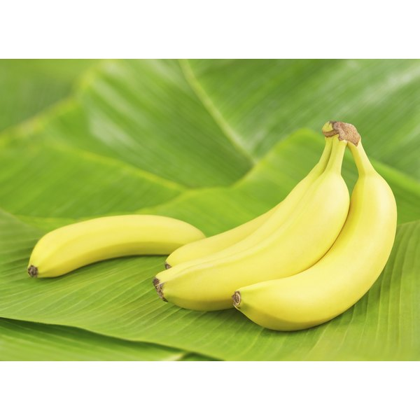Bananas on a banana leaves