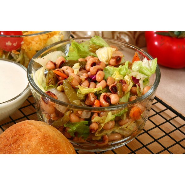 Blackeyed peas, here in a salad, contain substantial amounts of calcium and fiber.