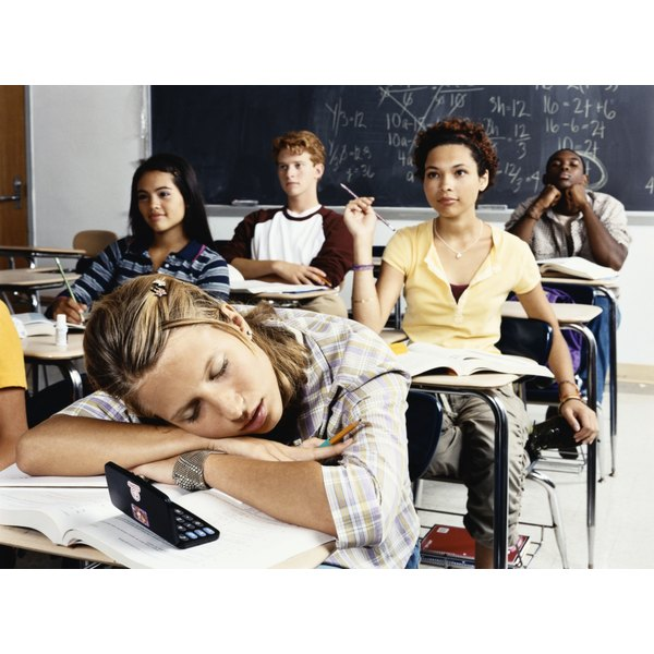 Brief naps in class do not make up for poor sleep at home.