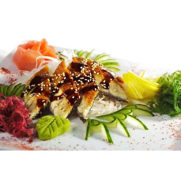 Kabayaki sauce on unagi.