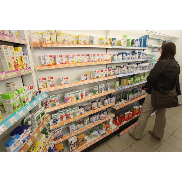 A woman shops for health supplements.