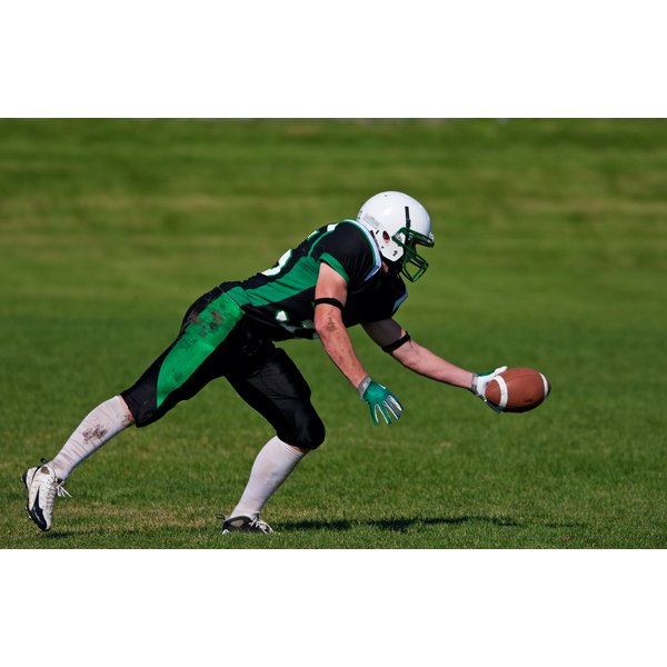 Catching a hard-thrown football or catching the ball with your fingers at an odd angle can lead to injury.