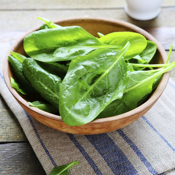Green vegetables including spinach contain choline.