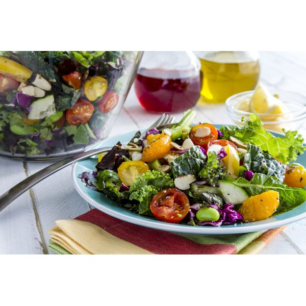A salad of fruit, vegetables, beans and seeds will help balance your blood sugar.