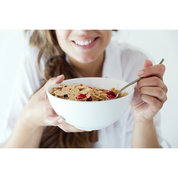 The low calorie count in Special K and Slim Fast products may help you lose weight.