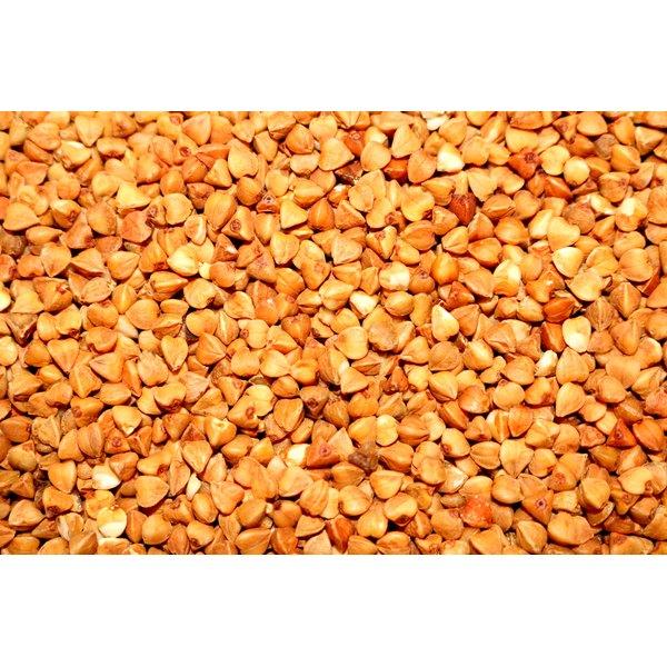 A pile of buckwheat groats.