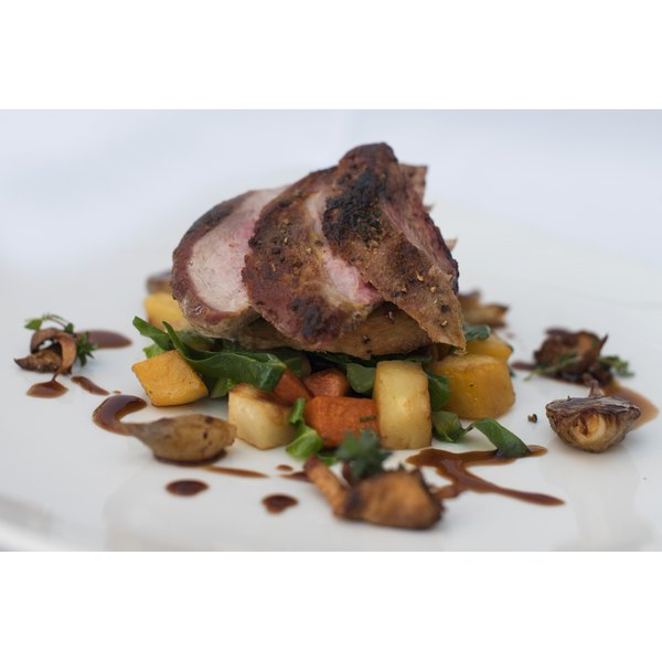 Roasted pheasant breast