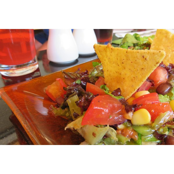 healthy plate of mexican food plated at restaurant