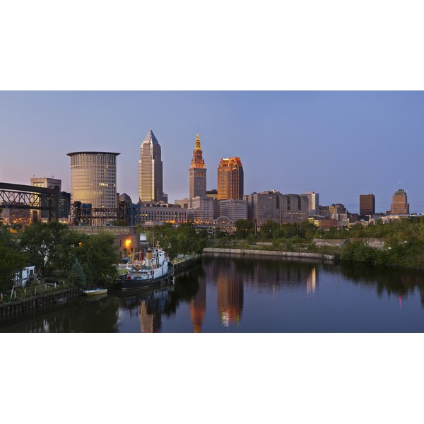 Panoramic view of Cleveland,OH.