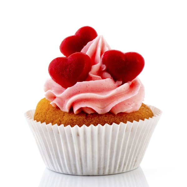 Cupcake with moist frosting.