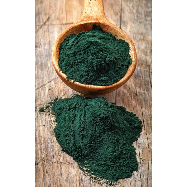 Spirulina algae powder.