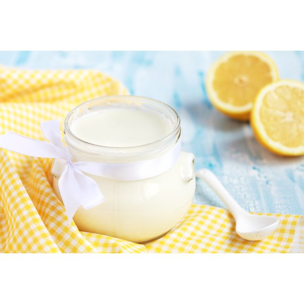 Yogurt and lemons.