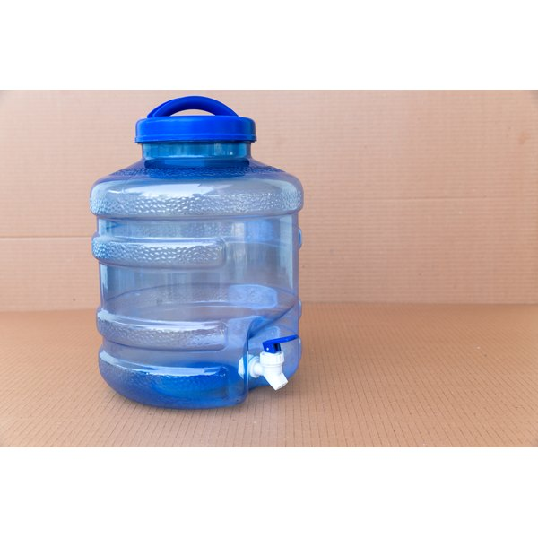 A large jug of drinking water.