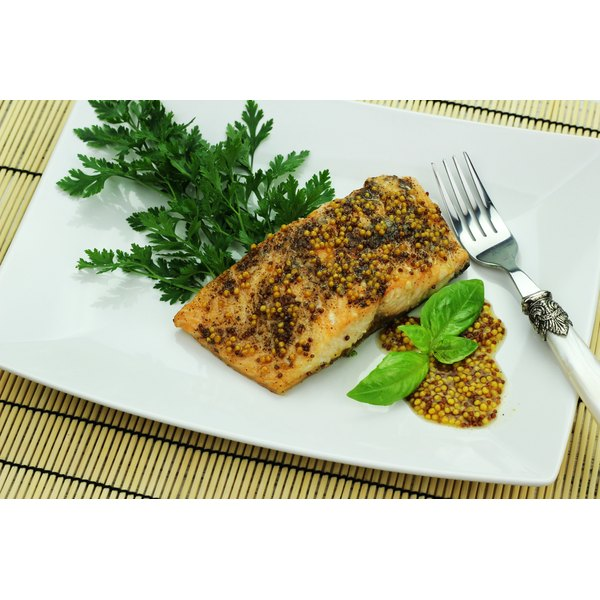 Salmon filet on a plate