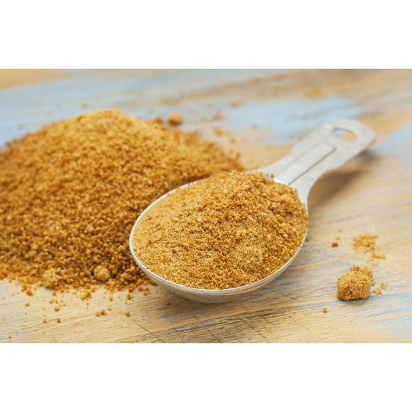 Scoop of coconut palm sugar