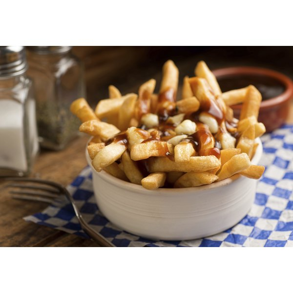 A small bowl of poutine.