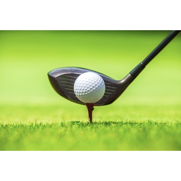"""Teeing up a ball too high invites """"sky mark"""" scratches on the crown of a driver."""