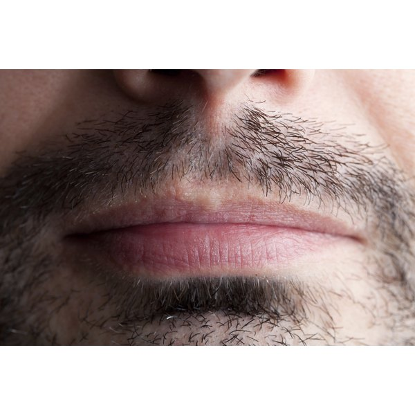 Stubble around a man's mouth