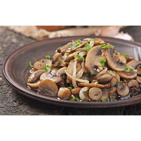 Perfectly cooked mushrooms for a meal.