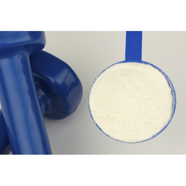 A scoop of whey protein.