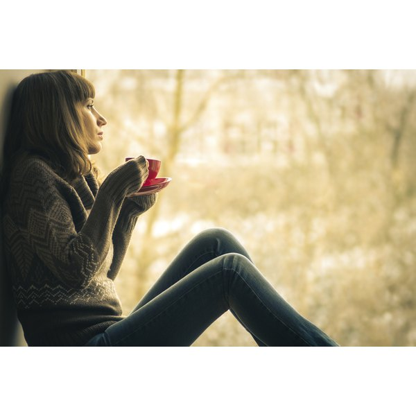 Drinking a cup of coffee can give you some quiet time to contemplate problems.