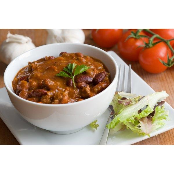Choose simple, one pot dinners like vegetarian chili.
