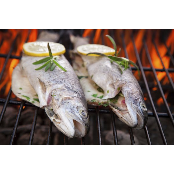 Trout skin is thin enough to be edible, and crisps up on the grill.