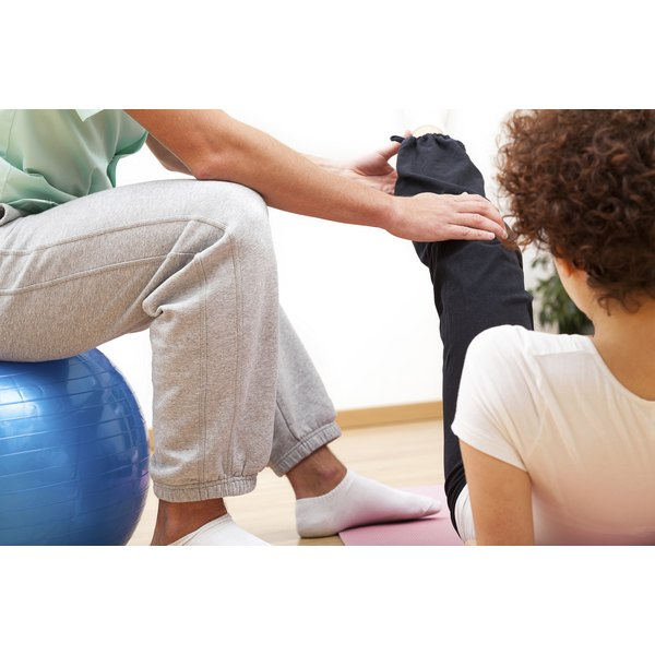 A physical therapist begins the rehabilitation process.