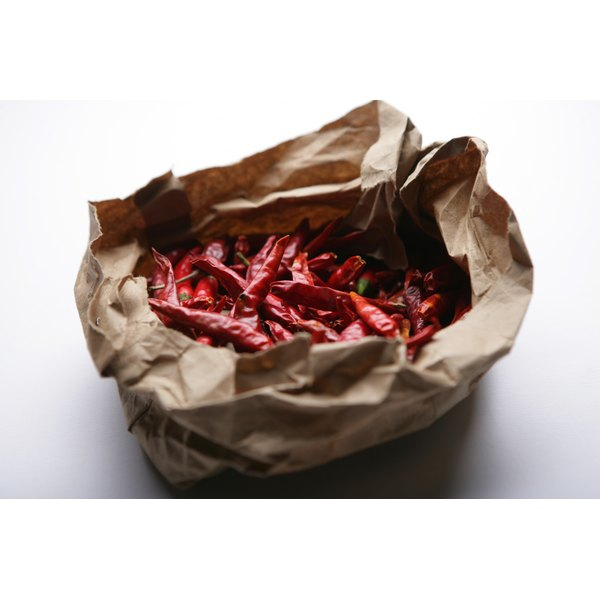 Pungent dried chili peppers add spice to savory dishes.