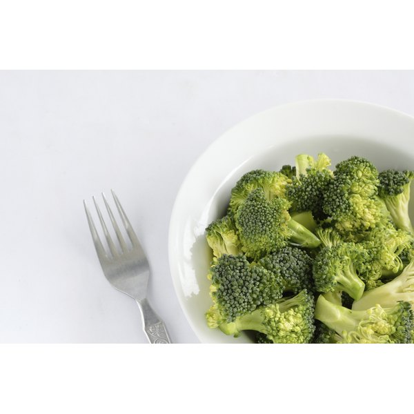 A large bowl of broccoli.