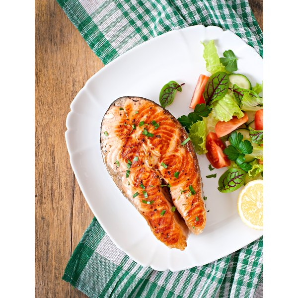 Fish and vegetables are staples on the Paleo diet.