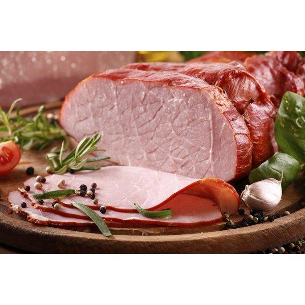 A sliced ham.