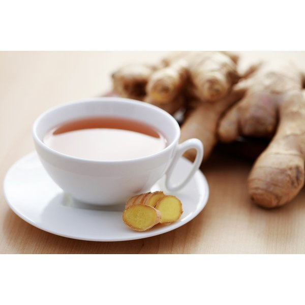 cup of ginger root tea