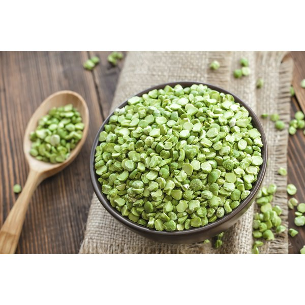 Dried peas are high in fiber and protein.