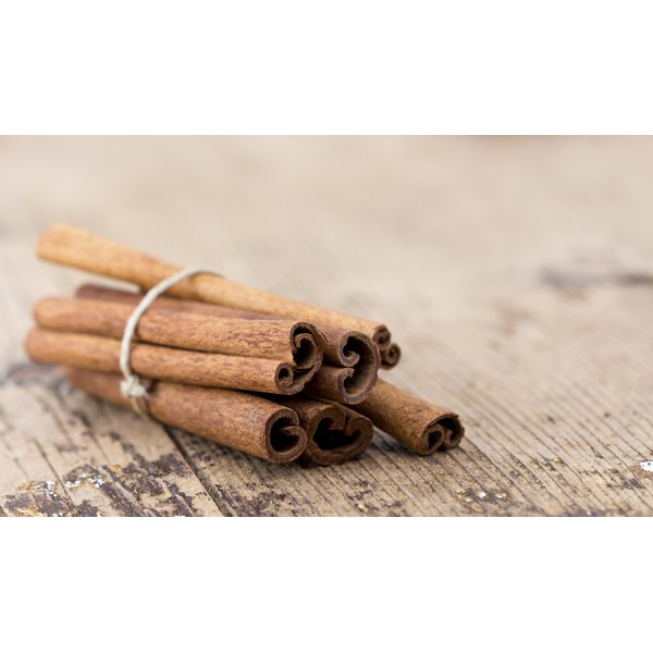 A bunch of cinnamon sticks tied together.