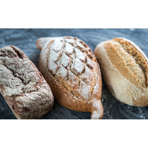 Whole wheat bread has a golden brown appearance indicative of wheat germ's healthful presence.
