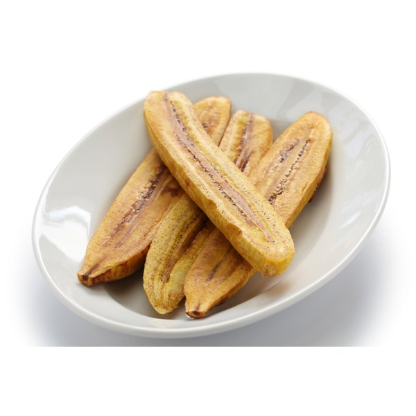 Plantains resemble bananas in looks, but not flavor.
