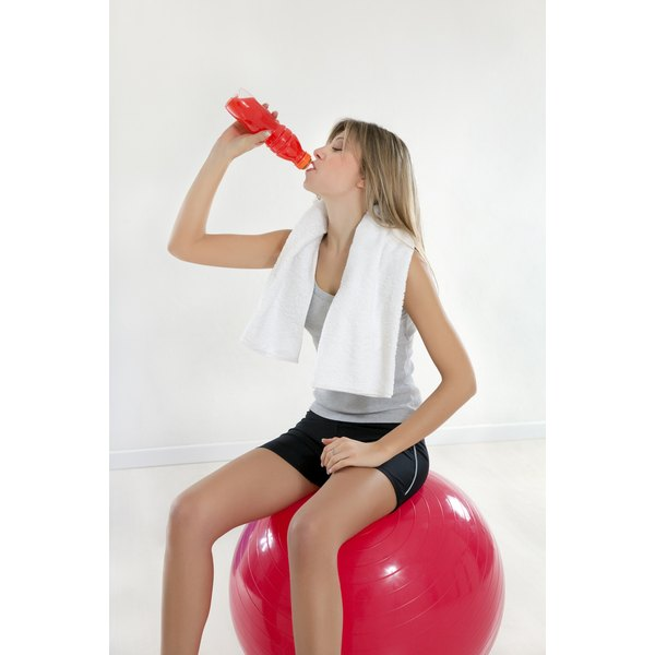 Isotonic sports drinks help rehydrate.