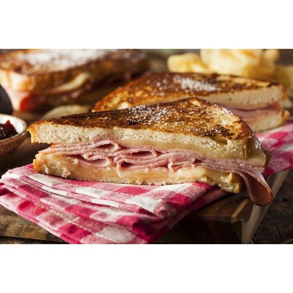 A homemade Monte Cristo Sandwich.