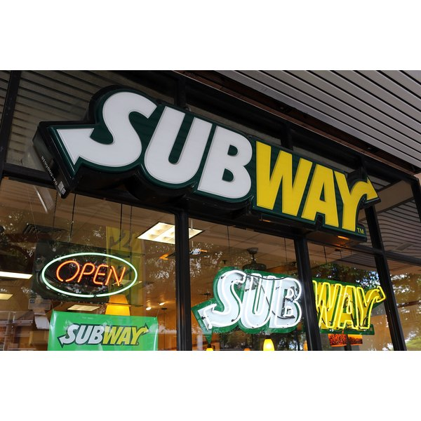 A subway restaurant open for business.