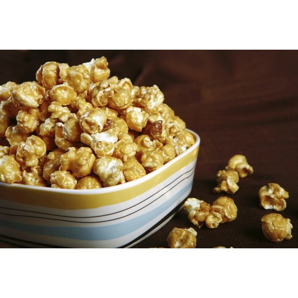 A bowl full of kettle corn.
