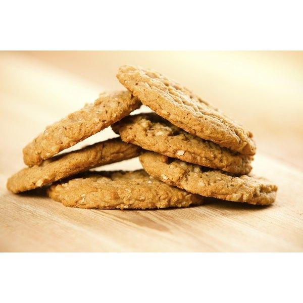 A small pile of oatmeal banana cookies.