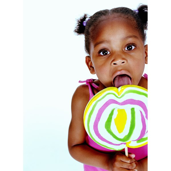 Sucking on a lollipop may give your child the oral sensory input she needs.