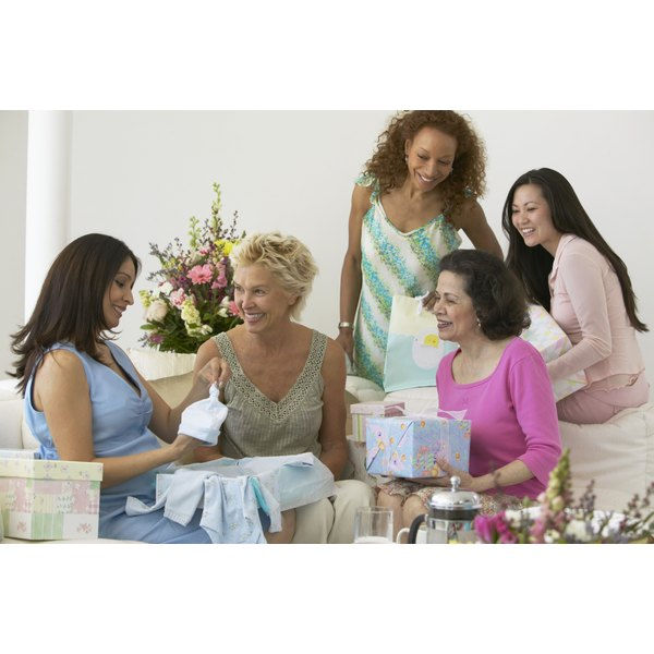 Group of woman at a baby shower.