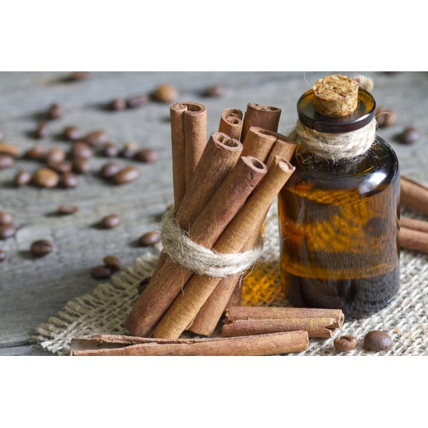 Even small amounts of cinnamon (sticks and oil shown here) have significant levels of the minerals, calcium and manganese.